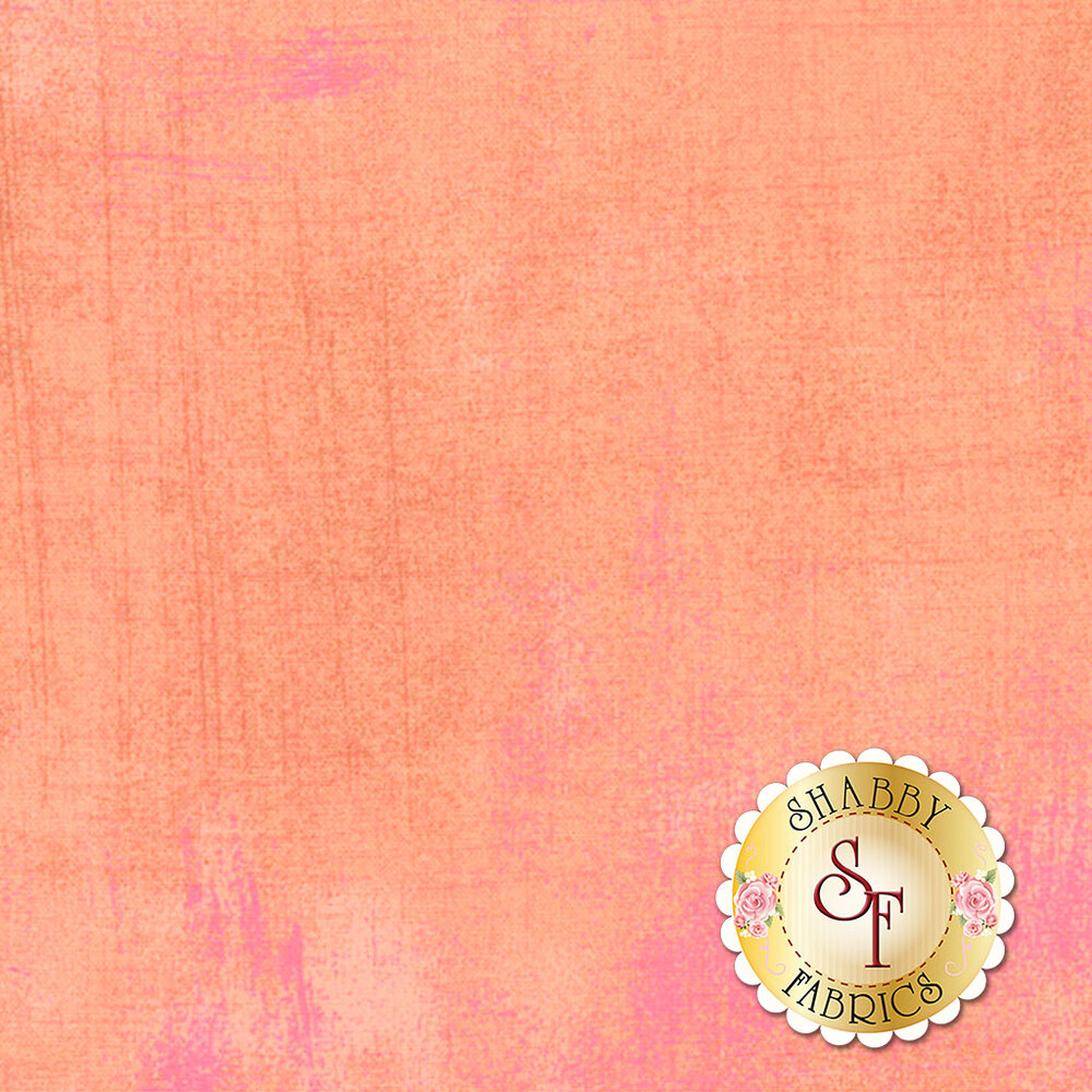 Light peach colored grunge textured fabric | Shabby Fabrics