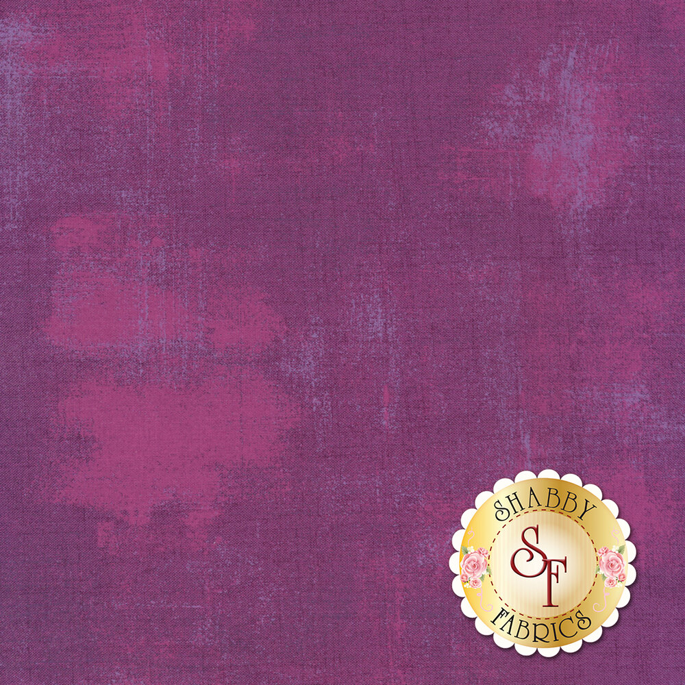 Purple grunge textured fabric | Shabby Fabrics