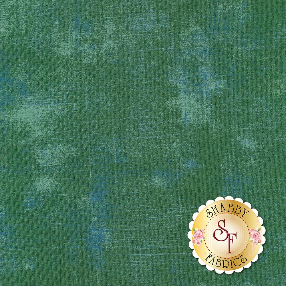 Teal grunge textured fabric | Shabby Fabrics