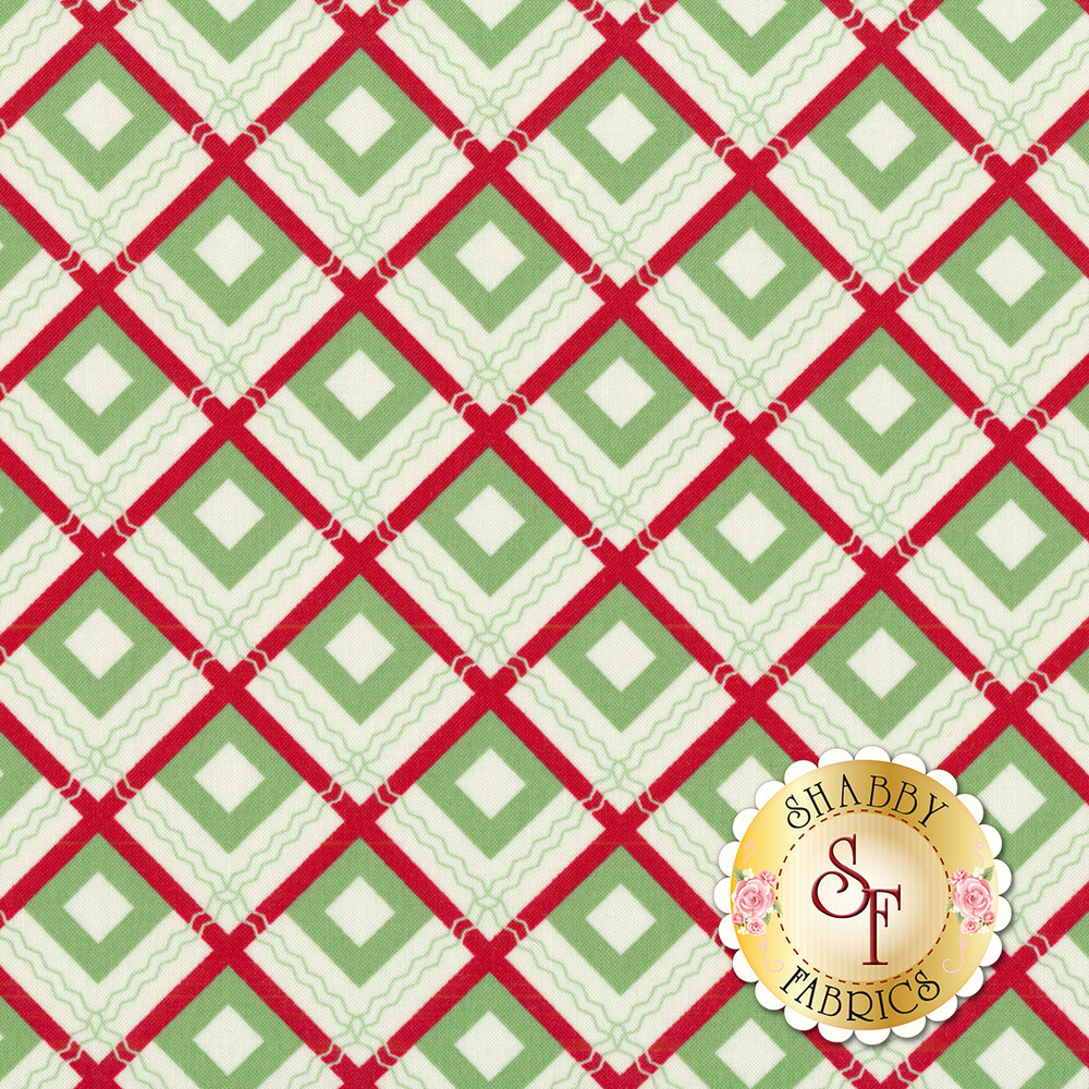 Sweet Christmas 31153-11 Plaid Scarf Spearmint by Urban Chiks for Moda Fabrics