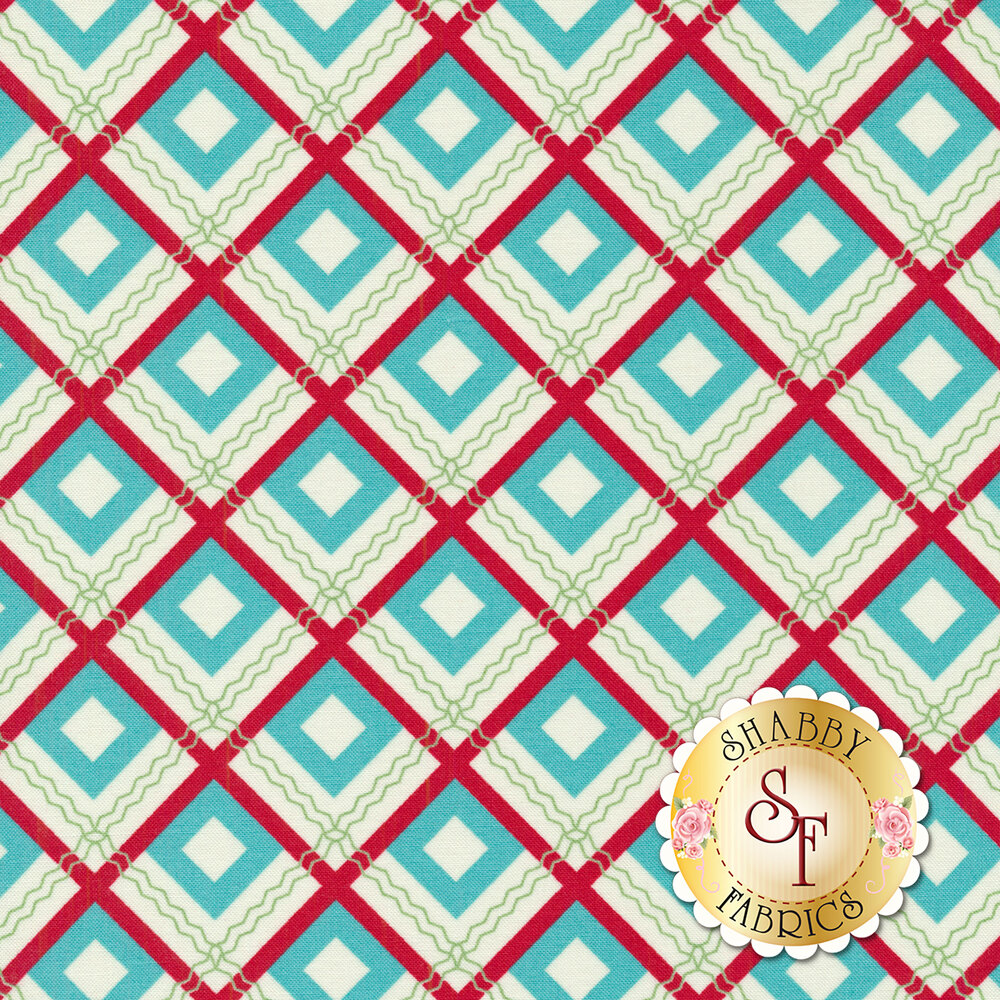 Sweet Christmas 31153-21 Plaid Scarf Coolmint by Urban Chiks for Moda Fabrics