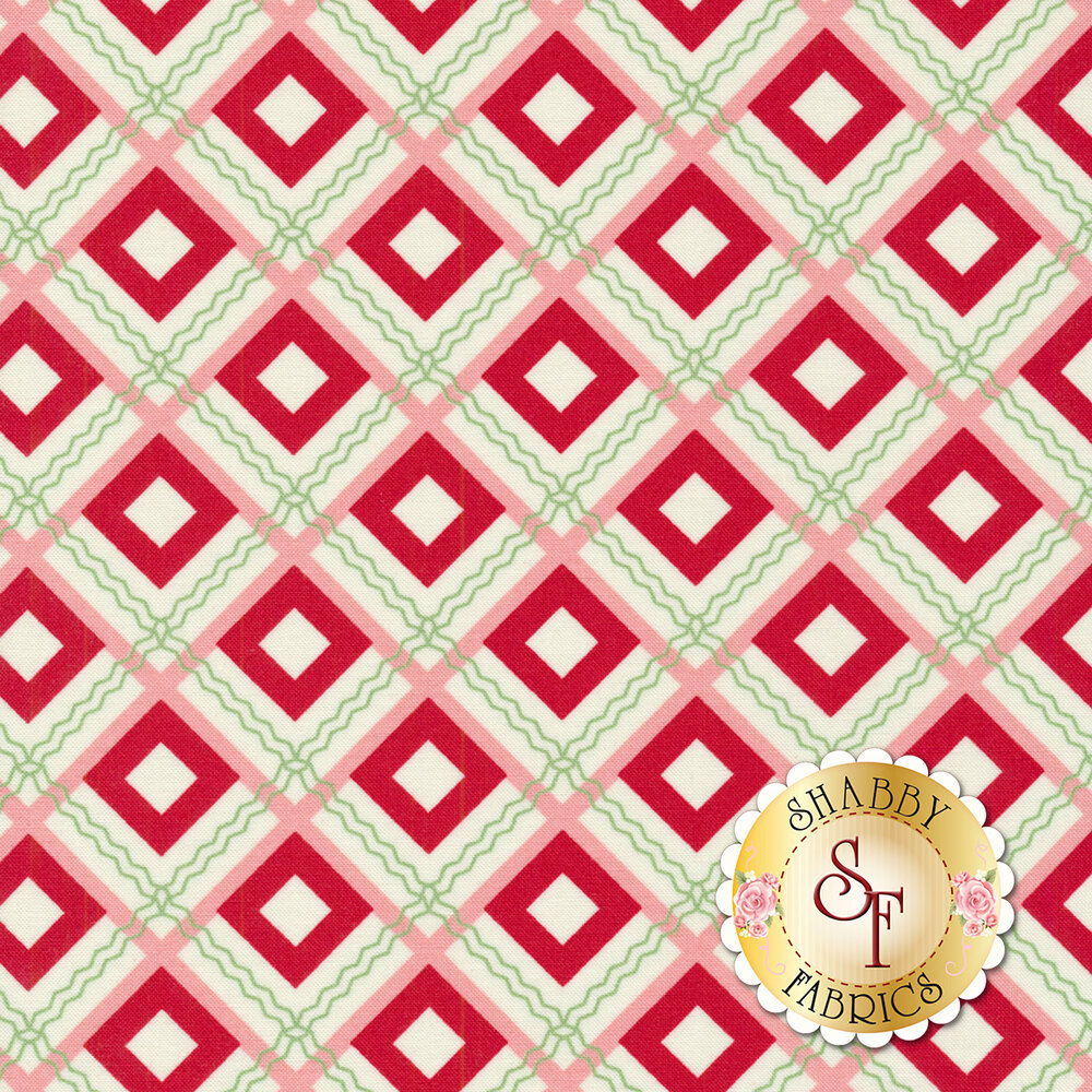 Sweet Christmas 31153-22 Plaid Scarf Peppermint by Urban Chiks for Moda Fabrics