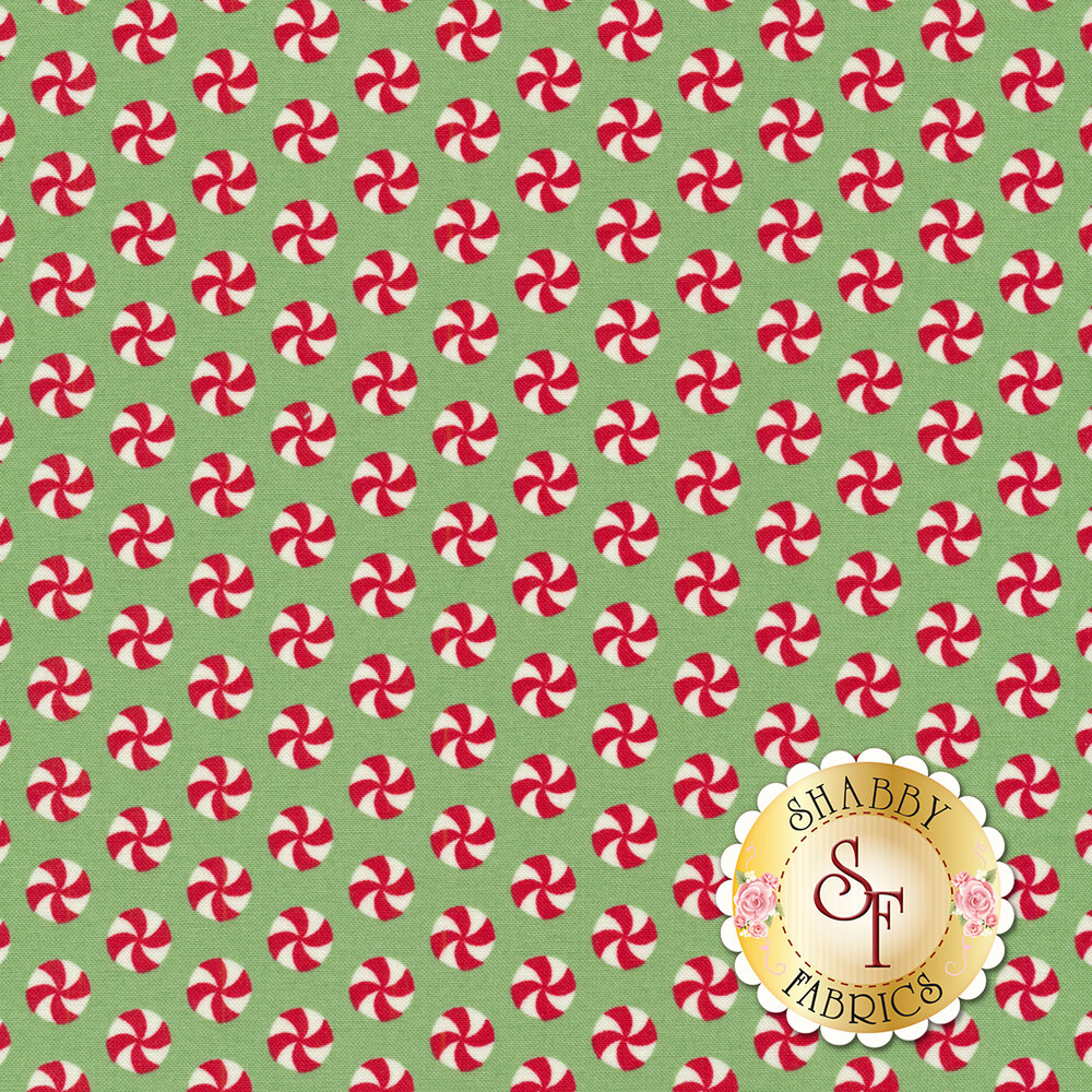 Sweet Christmas 31154-19 Peppermint Polka Dot Spearmint by Urban Chiks for Moda Fabrics