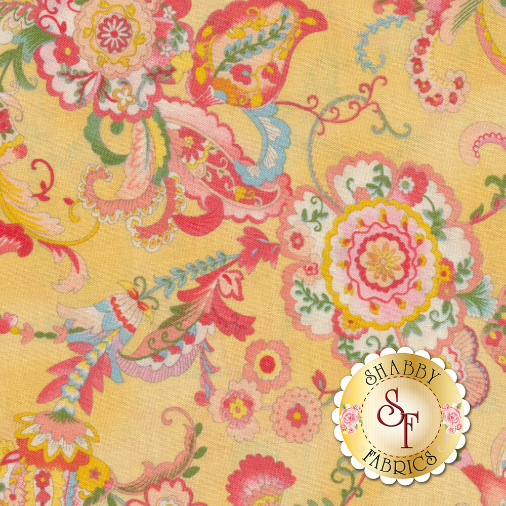 Coco 33390-11 Floral Yellow  from Moda Fabrics by Chez Moi