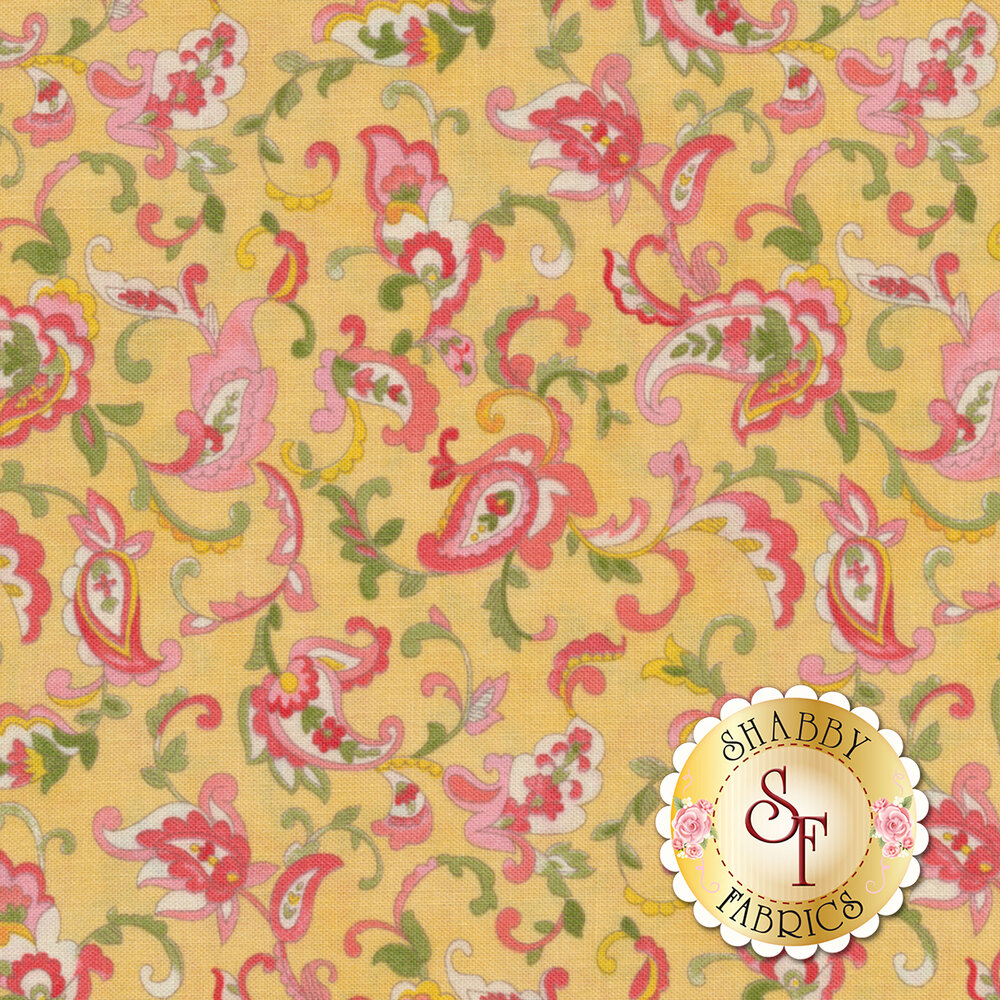 Coco 33392-11 Paisley Lemon from Moda Fabrics by Chez Moi