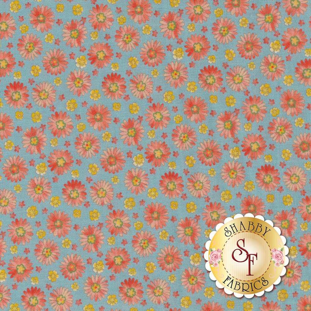 Coco 33393-15 Daisies Bluebell from Moda Fabrics by Chez Moi