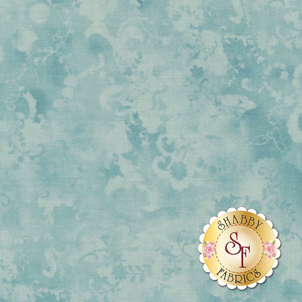Coco 33394-13 Tonal Floral Bluebell from Moda Fabrics by Chez Moi