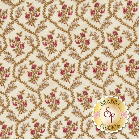Rosewater 41914-1 Cream by Nancy Gere for Windham Fabrics
