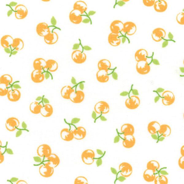 Orange berries tossed on white | Shabby Fabrics
