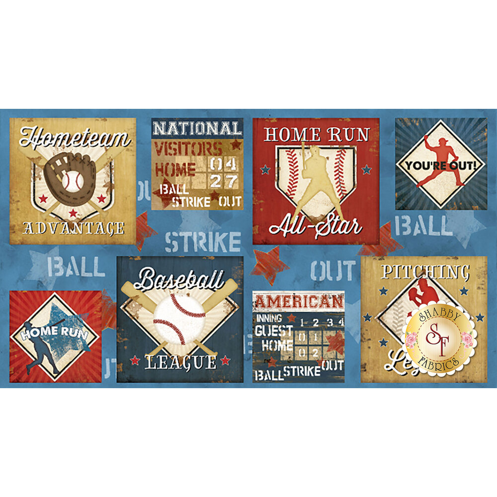 7th Inning Stretch 82550-423 Multi Craft Panel by Wilmington Prints