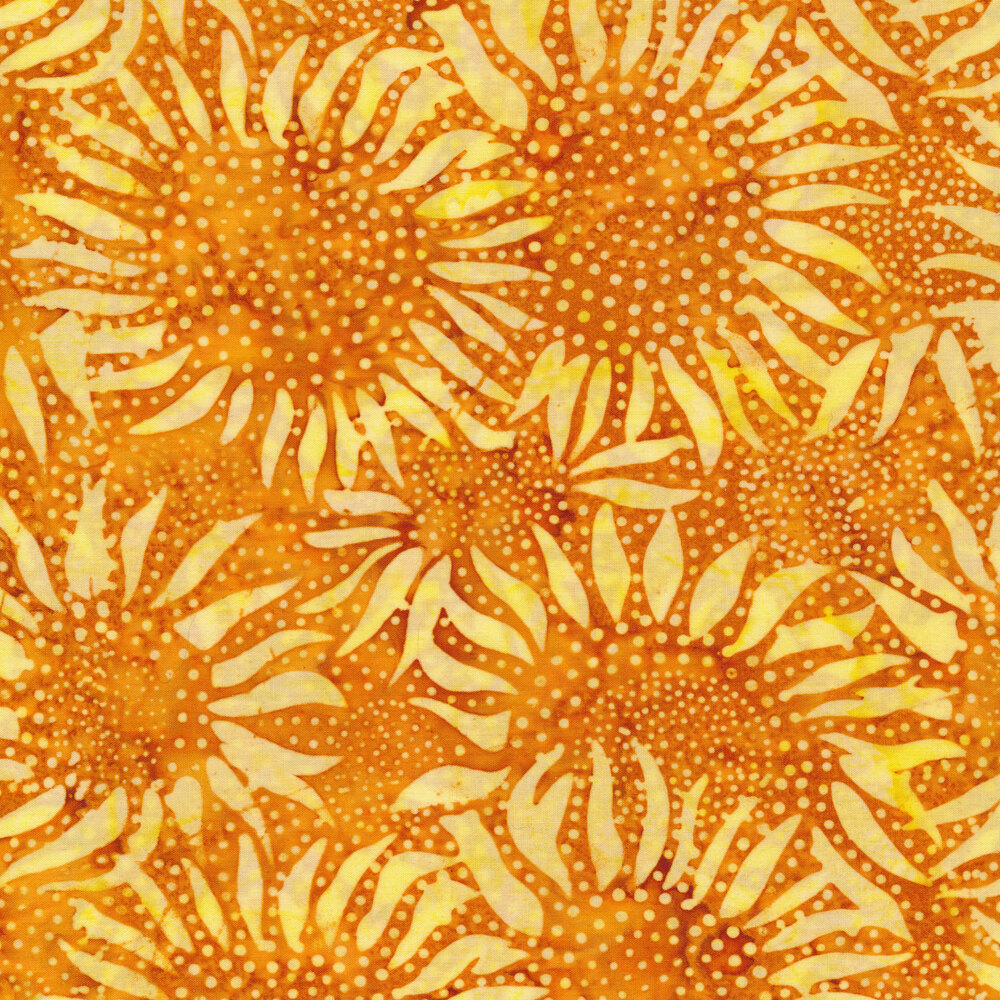 Tonal yellow sunflowers and dots