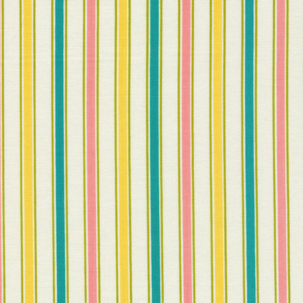 Blue, yellow, and pink stripes | Shabby Fabrics