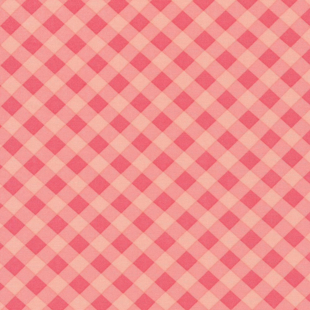 Pink on pink gingham | Shabby Fabrics