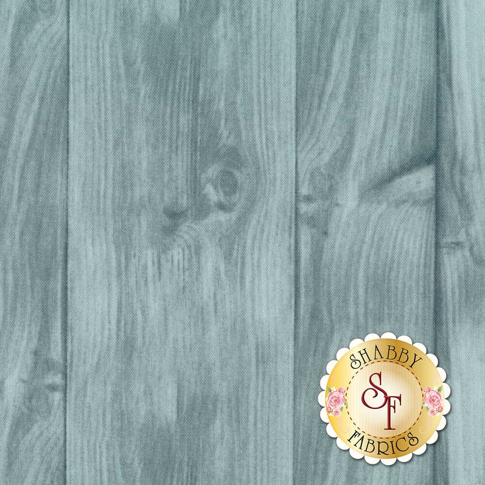 Distressed, teal tonal wood texture | Shabby Fabrics