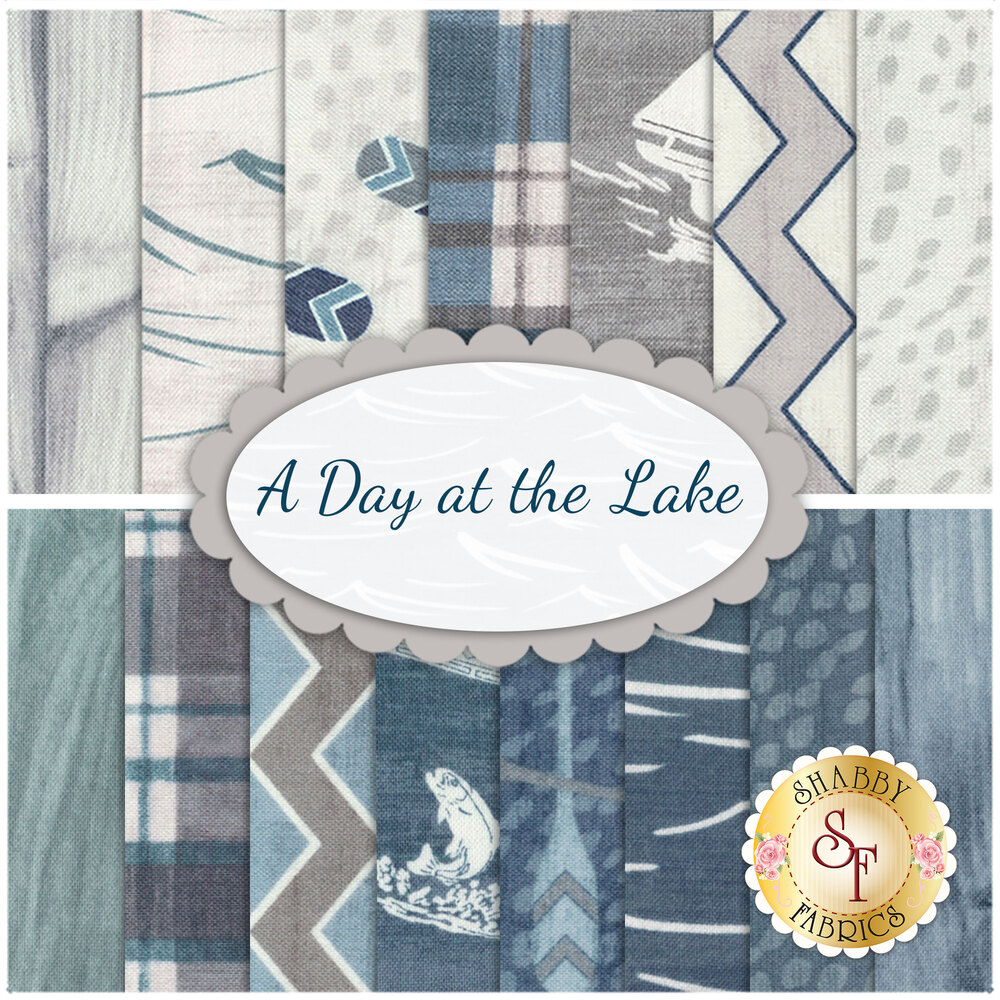 A Day At the Lake  15 FQ Set Available at Shabby Fabrics