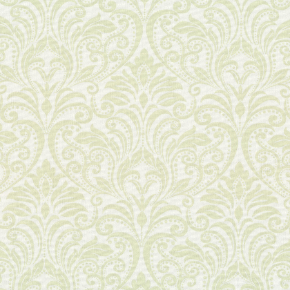 Tonal light green damask print | Shabby Fabrics