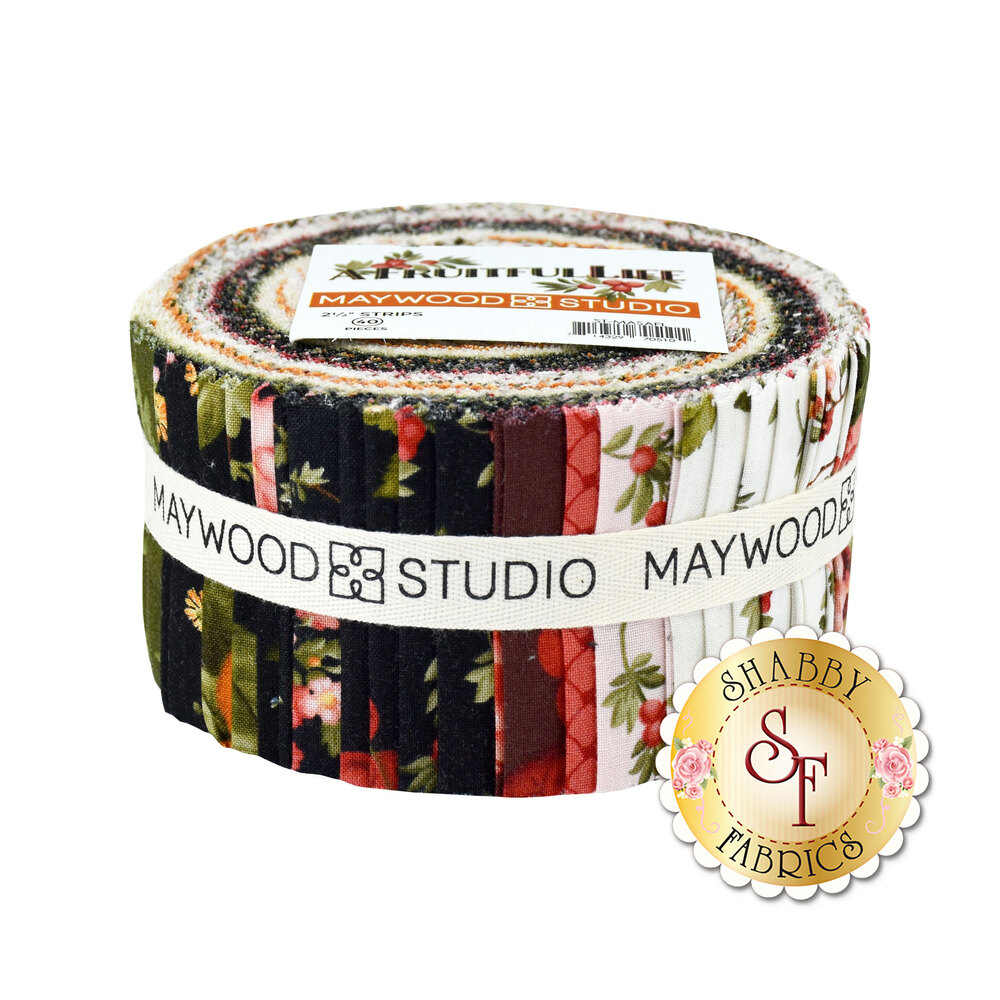 "A bundle of 2 1/2"" strips using the A Fruitful Life collection 