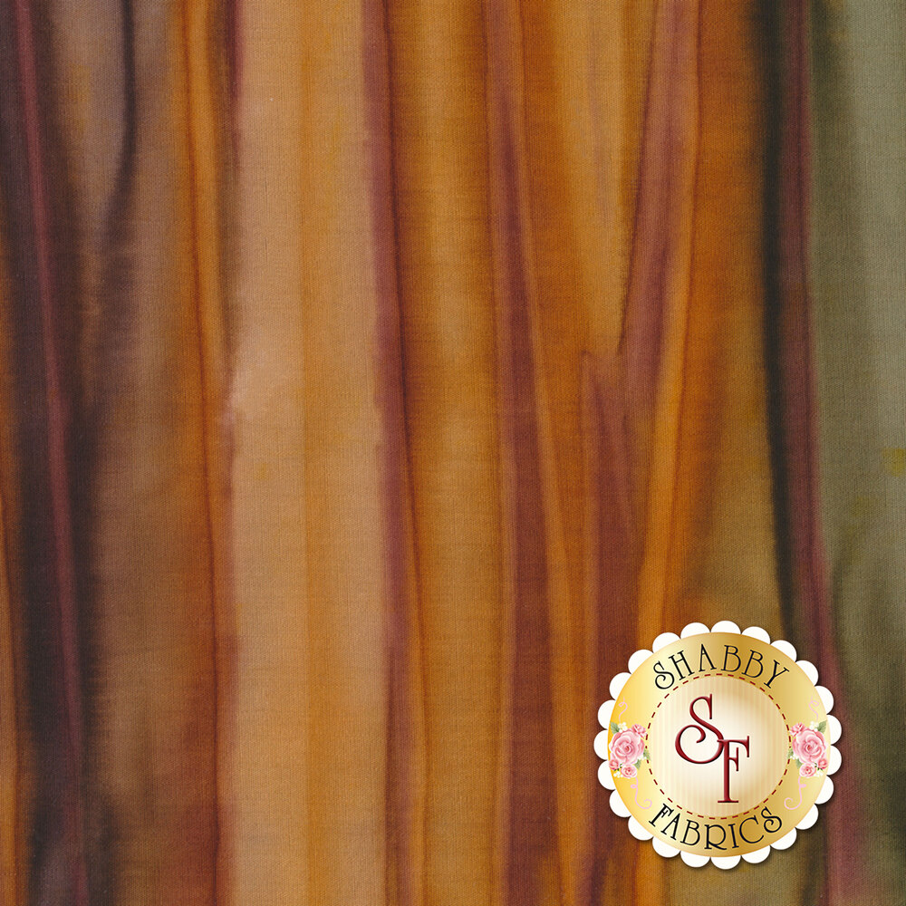 Dark brown and green mottled striped fabric