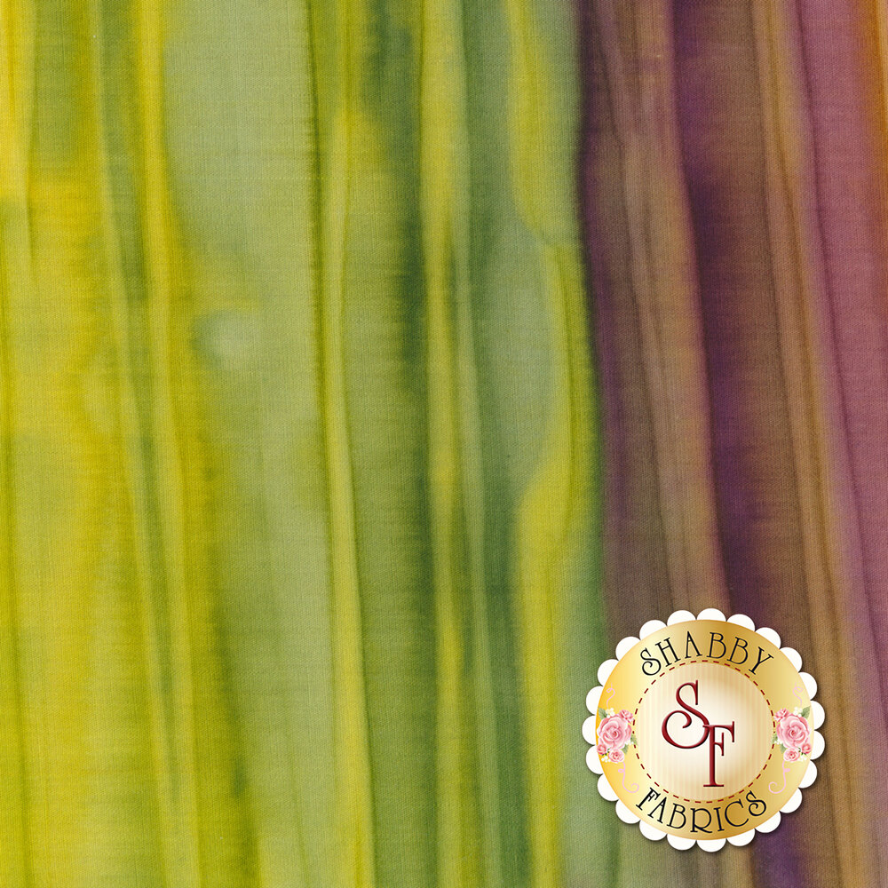 Yellow and purple striped batik