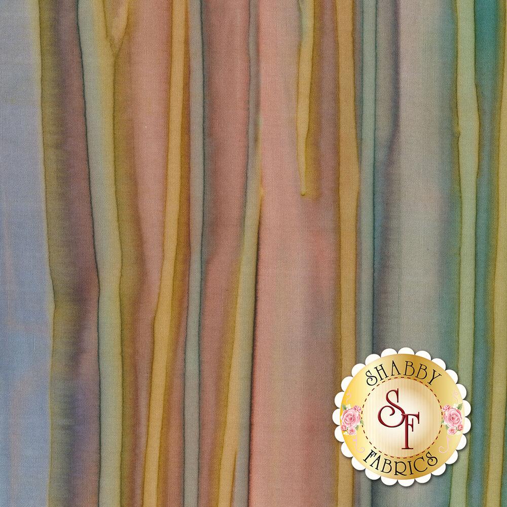 Multi colored water color batik fabric