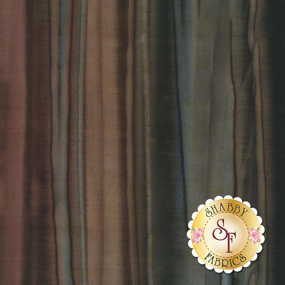 Dark brown and black striped batik fabric