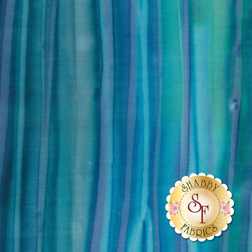 Dark blue and teal striped batik fabric | Shabby Fabrics