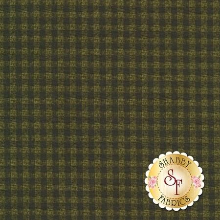 A Moose For Christmas 1542-45 Gingham Dark Green by Cheryl Haynes for Benartex Fabrics