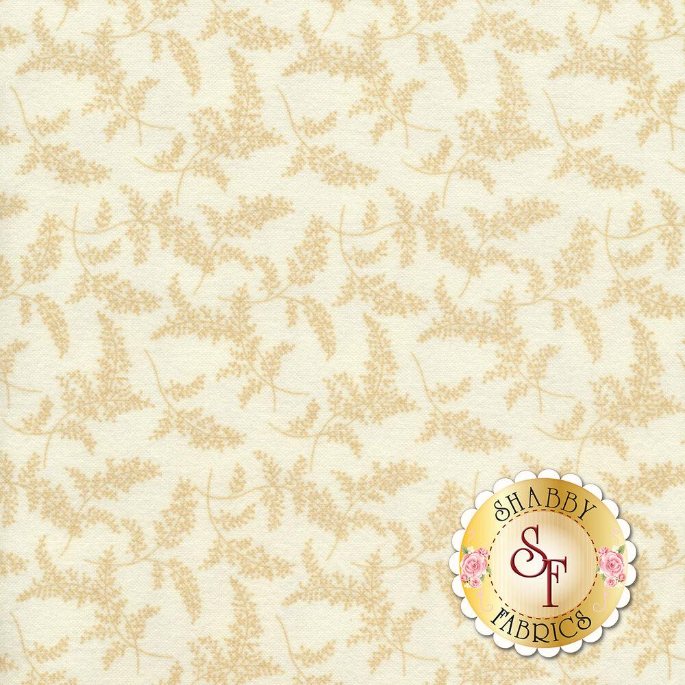 Tonal tossed sprigs on a cream background | Shabby Fabrics