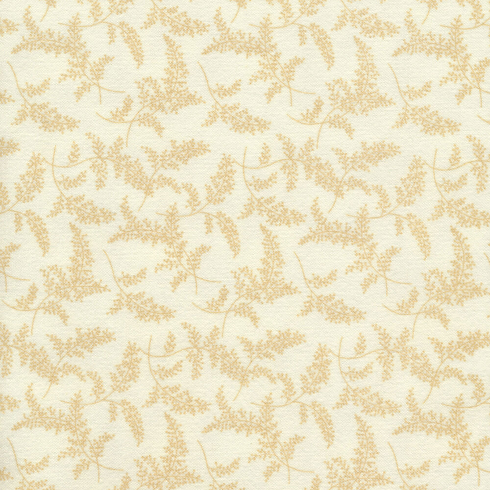 Tonal tossed sprigs on a cream background | Shabby Fabrics