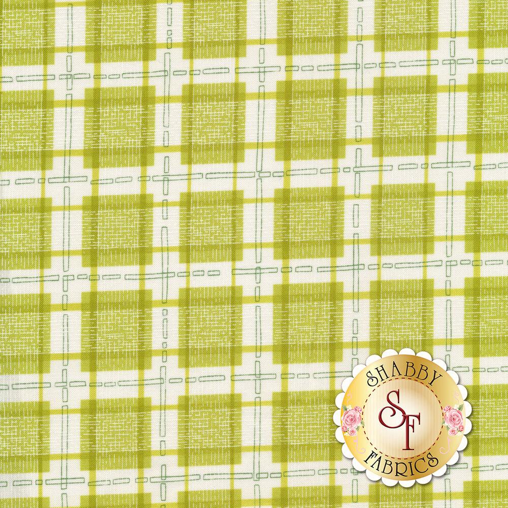 Green plaid on white background   Shabby Fabrics