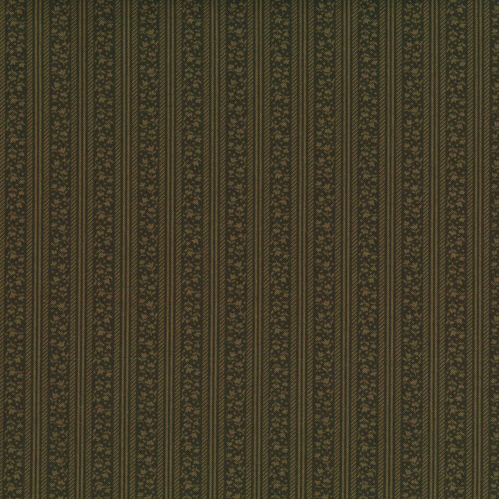 Tonal green floral stripes | Shabby Fabrics