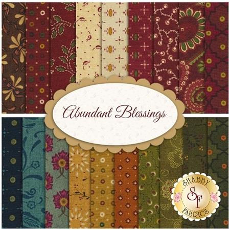 Abundant Blessings  19 FQ Set by Kim Diehl for Henry Glass Fabrics