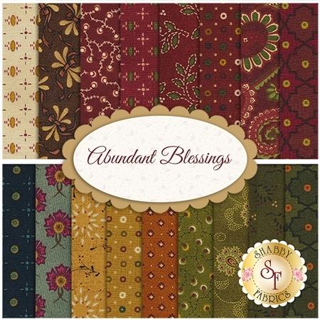 Abundant Blessings  17 FQ Set by Kim Diehl for Henry Glass Fabrics