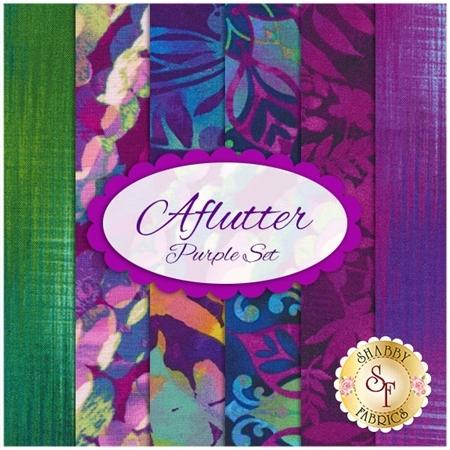 Aflutter  6 FQ Set - Purple Set by Elizabeth Isles for Studio E Fabrics