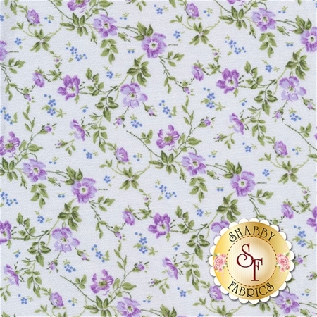 Afternoon In The Attic 3148-001 Dainty Blooms Lavender by RJR Fabrics