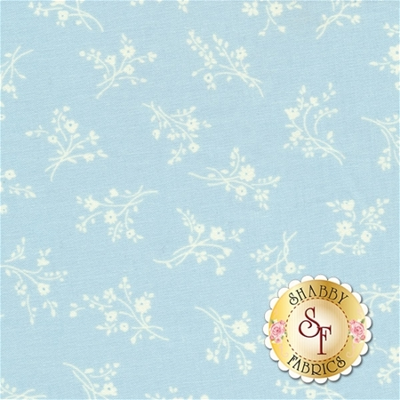 Afternoon In The Attic 3149-006 Cameo Blossom Bluebell by RJR Fabrics