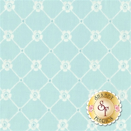 Afternoon In The Attic 3150-004 Sweet Eyelet Aqua by RJR Fabrics