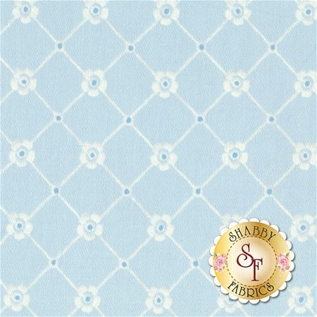 Afternoon In The Attic 3150-006 Sweet Eyelet Bluebell by RJR Fabrics