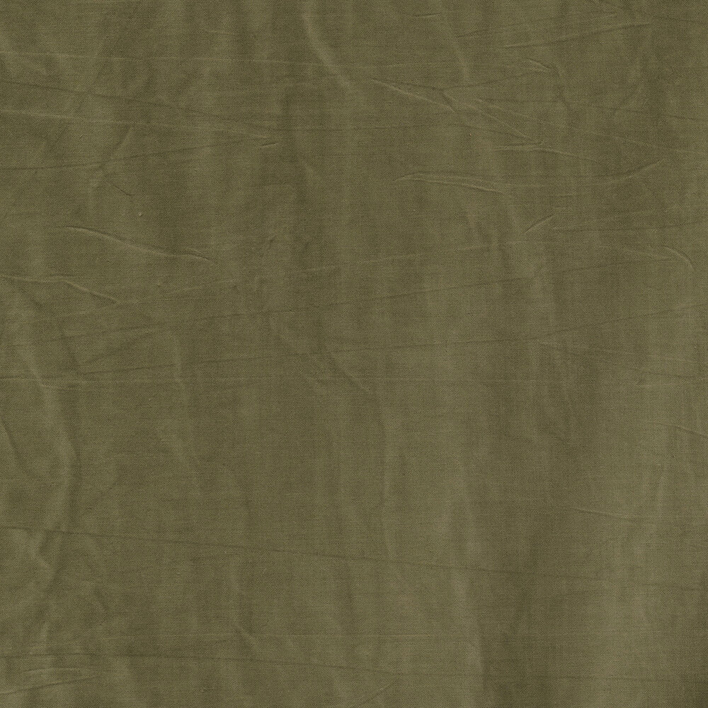A textured hunter green muslin fabric | Shabby Fabrics