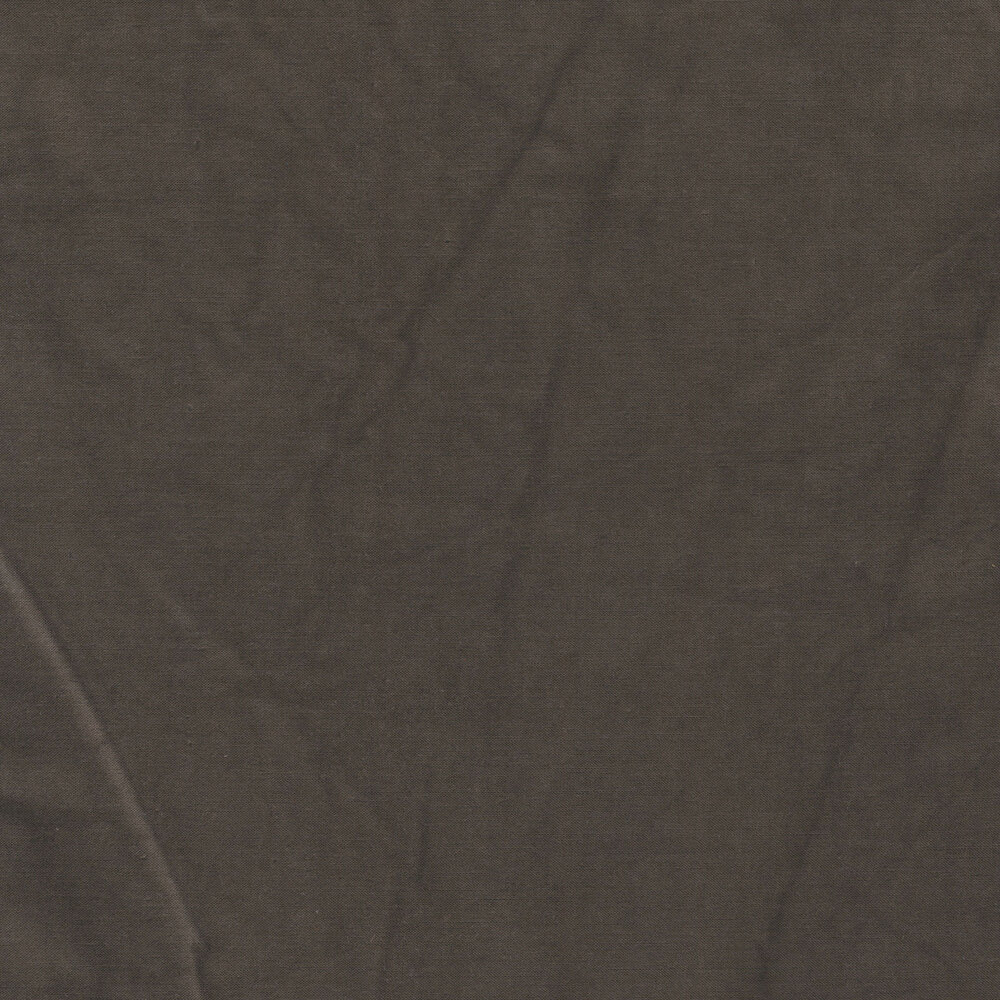 A textured dark brown muslin fabric | Shabby Fabrics