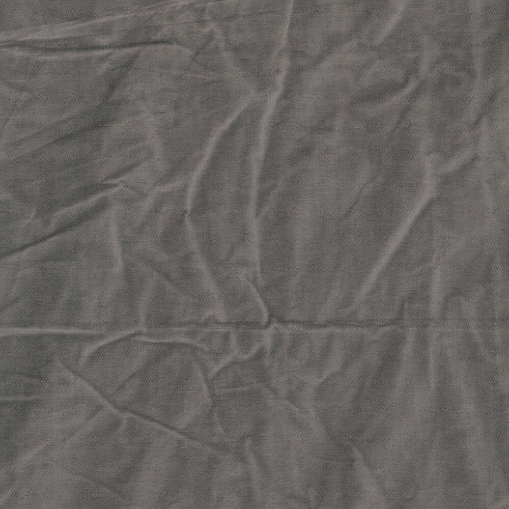 A textured dark grey muslin fabric | Shabby Fabrics