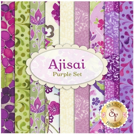 Ajisai  9 FQ Set - Purple Set by In The Beginning Fabrics