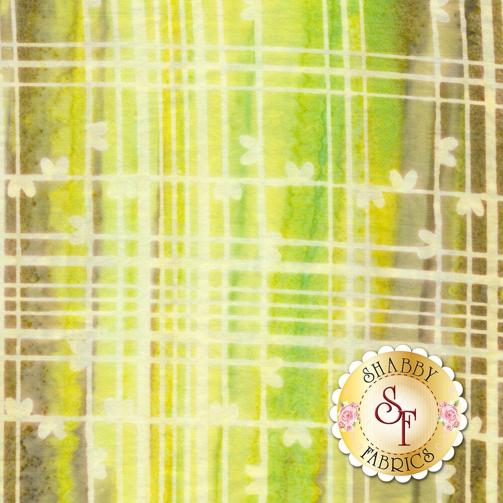 Yellow and brown plaid batik | Shabby Fabrics