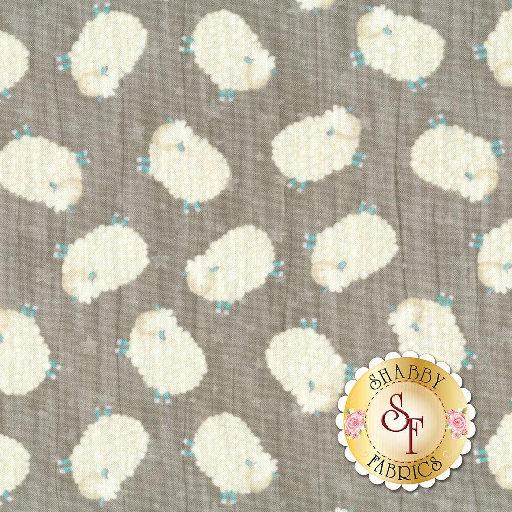 White sheep tossed all over gray | Shabby Fabrics