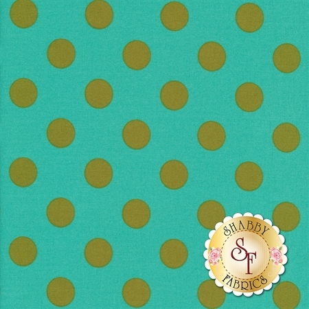 All Stars - Pom Poms & Stripes PWTP118-AGAVE by Tula Pink for Free Spirit Fabrics