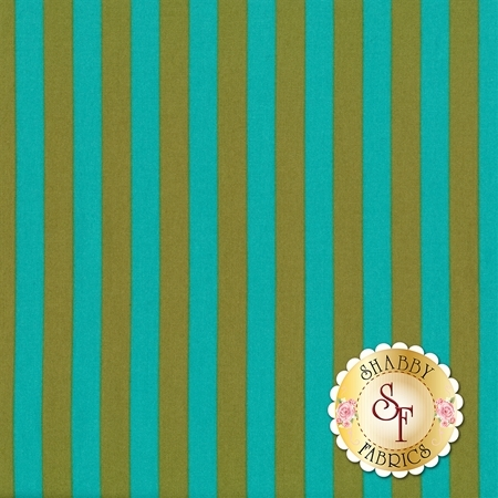 All Stars - Pom Poms & Stripes PWTP069-AGAVE by Tula Pink for Free Spirit Fabrics