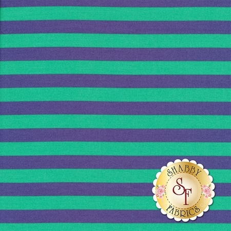 All Stars - Pom Poms & Stripes PWTP069-IRISX by Tula Pink for Free Spirit Fabrics
