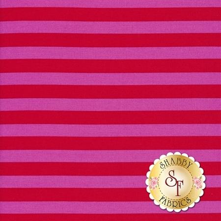 All Stars - Pom Poms & Stripes PWTP069-PEONY by Tula Pink for Free Spirit Fabrics