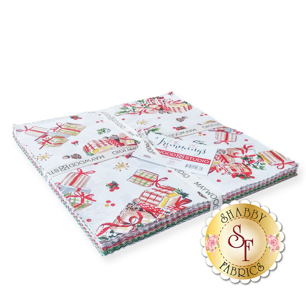 "All the Trimmings 10"" Squares from Maywood Studio available at Shabby Fabrics"