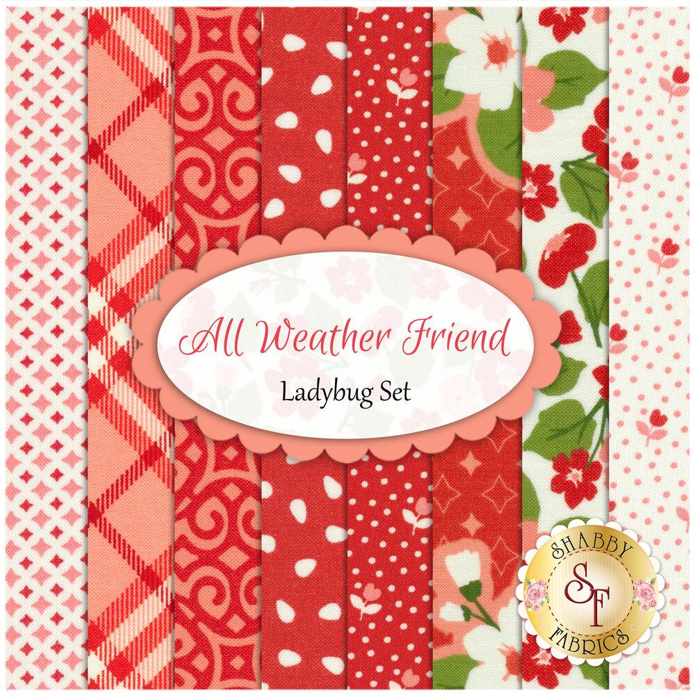 All Weather Friend  8 Fat Quarter Set - Ladybug Set by Moda Fabrics available at Shabby Fabrics